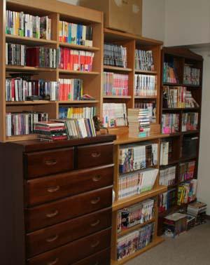 書斎の本棚左